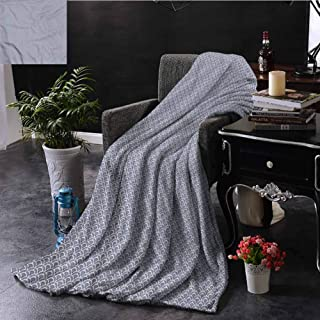 Japanese Boho Throw Blanket Double-Sided Printing Art Deco Scales Boho Couch Bed Napping Reading Recliner W60 xL80