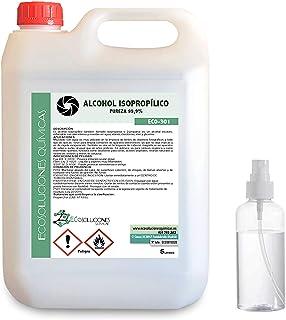 comprar comparacion Ecosoluciones Químicas ECO-301 | 5 L | Alcohol Isopropílico 99,9% Puro | Limpieza componentes electrónicos, Objetivos, Pan...