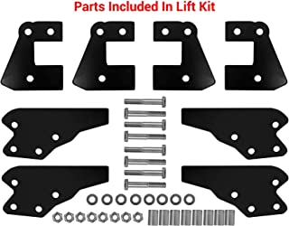 """SuperATV 3"""" Lift Kit for Polaris Ranger Full Size XP 900 / Crew (2013+) - Front & Rear Lift Kit - Easy To Install with Bolt-on System - All Hardware Included - 100% Guaranteed to Fit - Zinc Plated"""