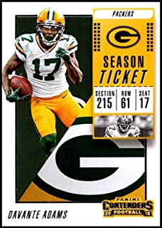 2018 Panini Contenders Season Tickets #64 Davante Adams Green Bay Packers NFL Football Trading Card