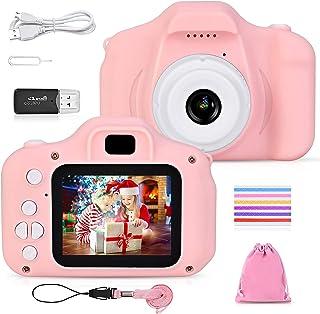 FK Kids Camera for Girls and Boys, Kids Digital Dual Camera 2.0 Inches Screen 20MP Video Camcorder Anti-Drop Children Cart...