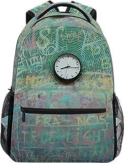 DEZIRO Reloj Pintura Arte Escuela Pack tejer Mochilas