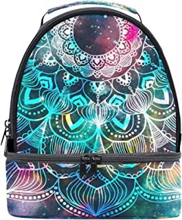 Mydaily Kids Lunch Box Ancient Mandala Galaxy Reusable Insulated School Lunch Tote Bag