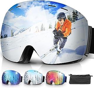 Amzdeal Gafas de Esquí, Gafas Esquí Snowboard Doble Capa
