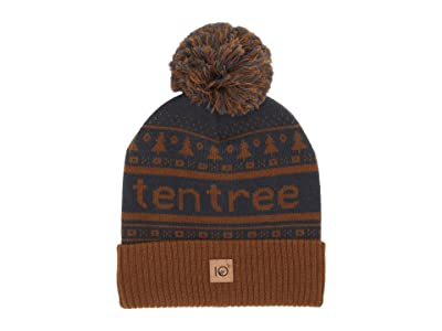 tentree Cabin Pom Beanie (Rubber Brown) Beanies