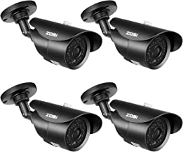 ZOSI 4 Pack 1080P HD 1920TVL Hybrid 4-in-1 TVI/CVI/AHD/960H CVBS Weatherproof Security Cameras Kits,3.6mm lens,120ft IR Distance, Aluminum Housing For HD-TVI, AHD, CVI, and CVBS/960H analog DVR