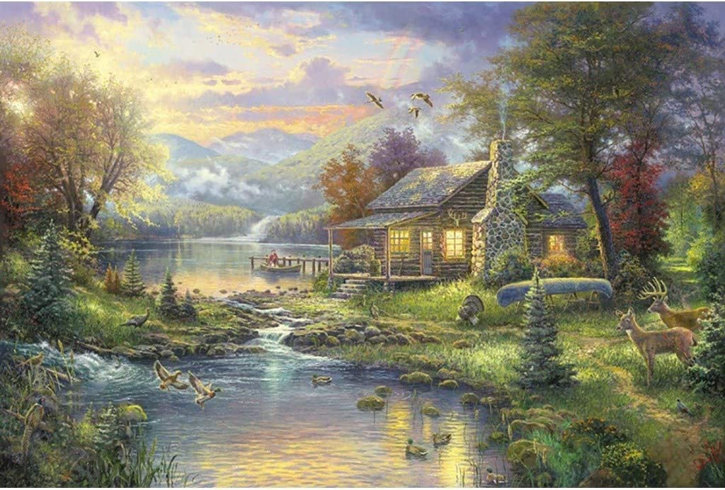 Shuminang Adult Limited price Puzzle 1000 Pieces Garden Forest Wooden N Indefinitely Villa