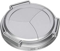 JJC ALC-LX100 Silver Self-Retaining Auto Open Close Lens Cap for Panasonic LUMIX DMC-LX100 and Leica D-LUX(Typ 109) Camera Replaces DMW-LFAC1