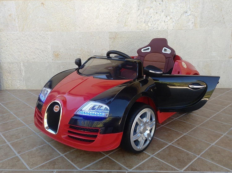 ordene ahora los precios más bajos PEKECocheS Coche ELéCTRICO 12V Bugatti Veyron Veyron Veyron Style Rojo  al precio mas bajo