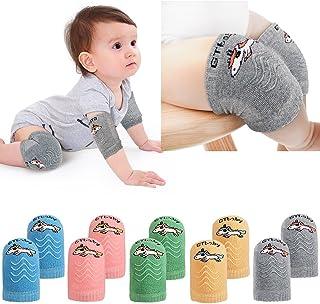 5 Pairs Baby Kneepads Crawling Anti Slip Knee Breathable High Elastic Sponge Kneepads for Baby