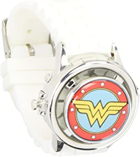 Wonder Woman White Logo Spinner Watch