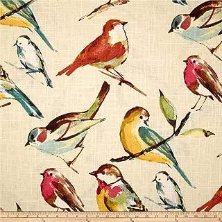 Richloom Fabrics 0284402 Richloom Birdwatcher Meadow Fabric by the Yard