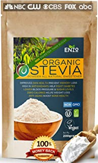 Easy Use Organic Stevia Powder 200g (7.05oz / 1600 Servings) All Natural Alternative Sweetener 12 x Sweeter than Processed...