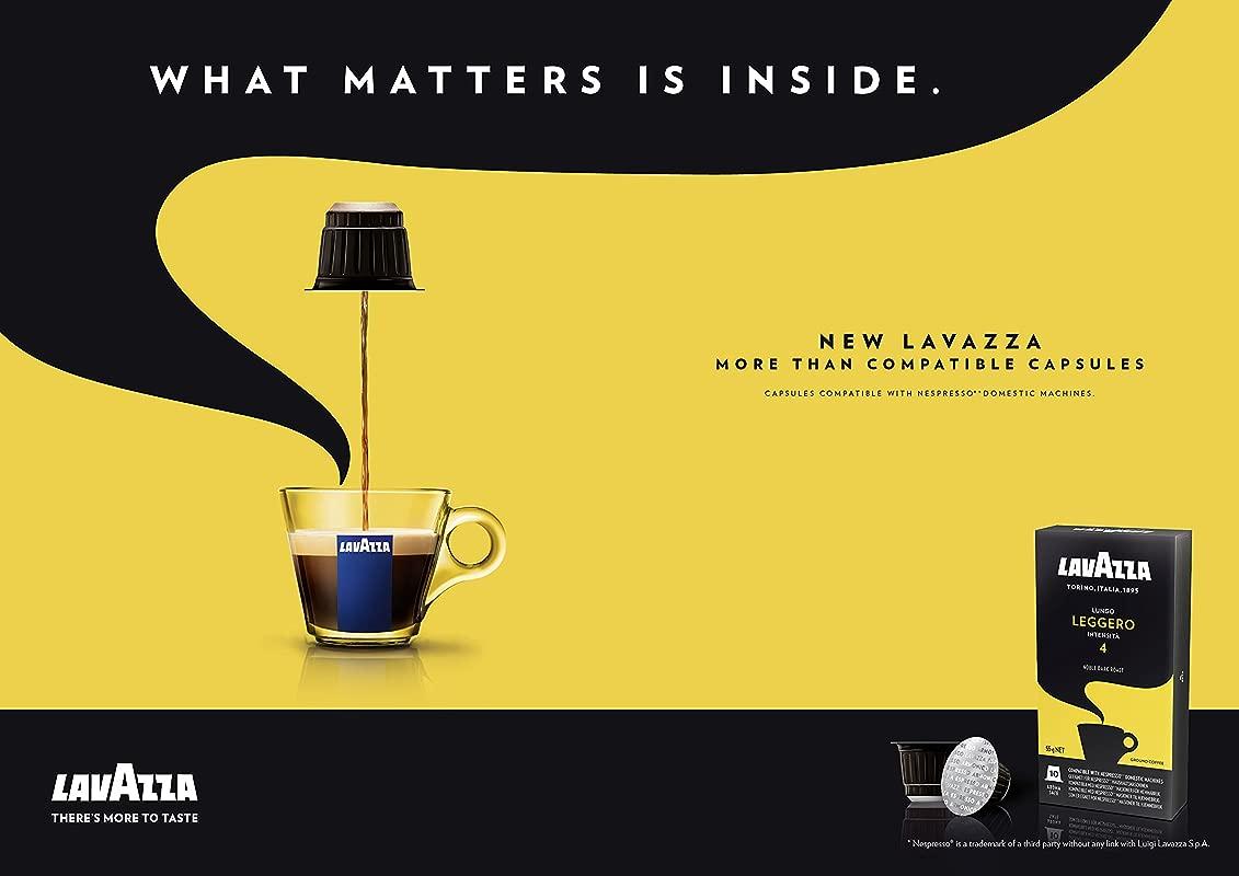 80 X LAVAZZA Nespresso OriginalLine Compatible Capsules LUNGO LEGGERO Intensity 4