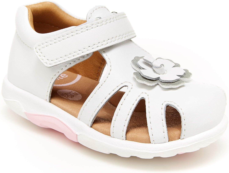 Stride Rite Girls SRT Eleni Sandal, White