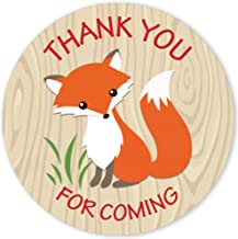 Woodland Fox Thank You for Coming Stickers - 1.75 in - 40 Labels