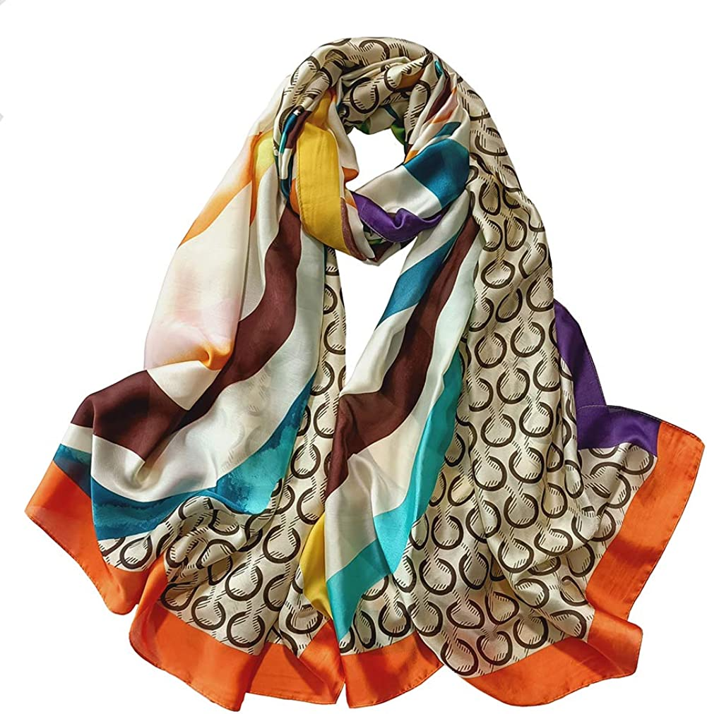 Pokeedioty super-large Women's fashionable super-light satin scarf, a silk scarf that is as comfortable as sleeping can be used as a shawl