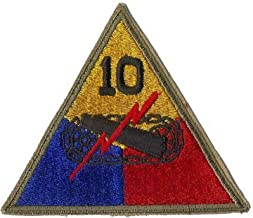 Embroidered Patch - Patches for Women Man - US Army 10TH Armored Division WWII ERA