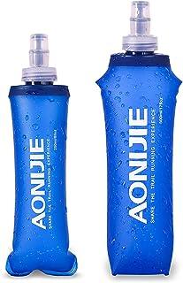 comprar comparacion AONIJIE 2 Unidades 250 ml / 500 ml Plegable Deportes BPA Libre de PVC Botella Plegable para Deporte Flask Botella de Hidra...