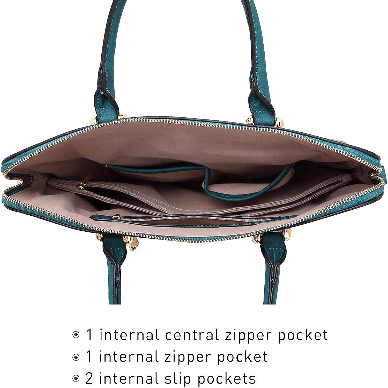 Dasein Women Large Purse Satchel Handbag Top Handle Work Bag Tote Purse Shoulder Bag for Ladies