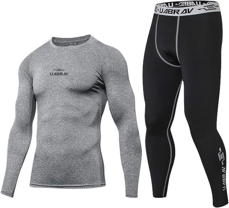 Men's Long Johns Thermal Set Compression Pants Leggings Baselayer Tights