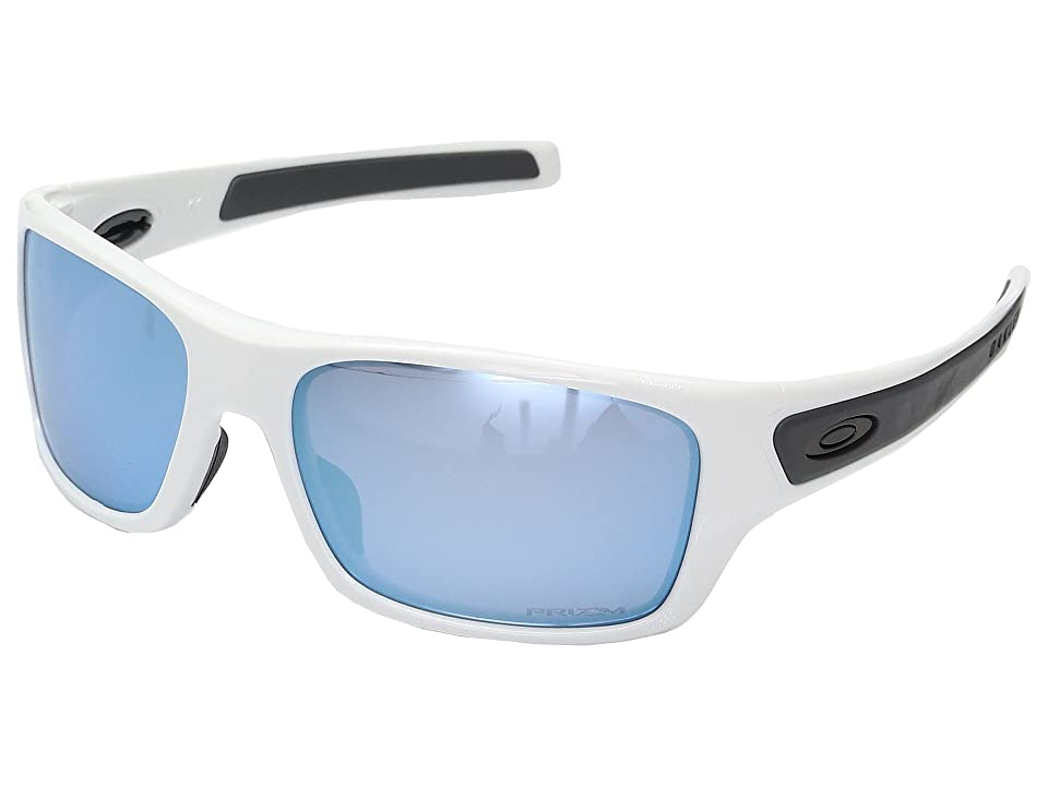 Oakley Turbine XS (Polished White w/ Prizm Deep Water Polarized) Fashion Sunglasses