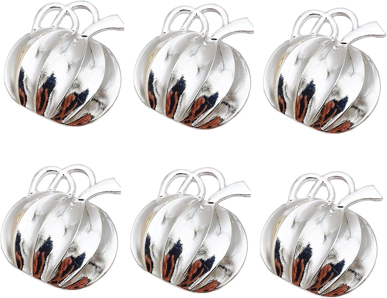 TENKY 6pcs Halloween Napkin Price Ultra-Cheap Deals reduction Ring Decorati Pumpkin Table Shaped