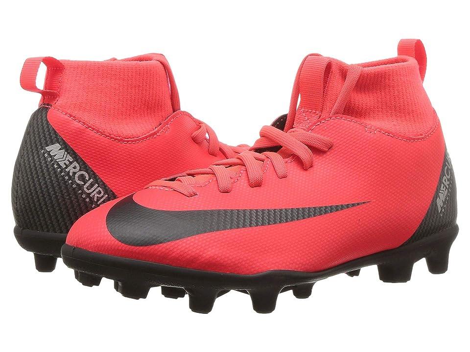 Nike Kids Mercurial Superfly 6 Club CR7 Soccer (Little Kid/Big Kid) (Bright Crimson/Black/Chrome) Kids Shoes