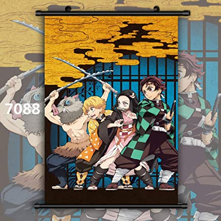 Kimetsu no Yaiba Giyuu Tomioka HD Canvas Print Wall Poster Scroll Room Decor