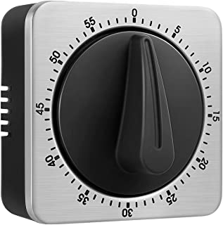KeeQii Timer Kitchen Timer 60 Minute Timing with 80dB Alarm Sound Magnetic Countdown Timer Home Baking Cooking Steaming Ma...