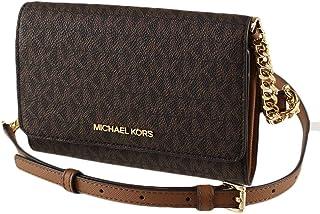Michael Kors Women's 35F0GTVC8B Jet Set Travel Medium Multifunction Phone Xbody Crossbody Bag Wallet (Brown)