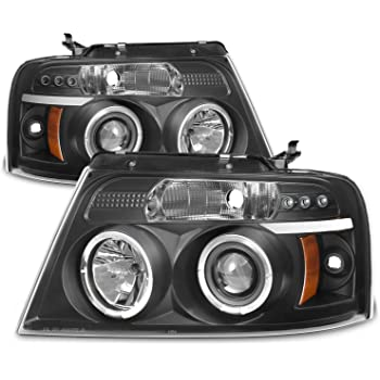 LED Halo for 04-08 Ford F150 Spyder Black Projector Headlights