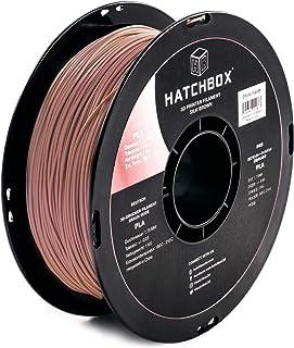 HATCHBOX Silk PLA 3D Printer Filament, Dimensional Accuracy +/- 0.03 mm, 1 kg Spool, 1.75 mm, Brown