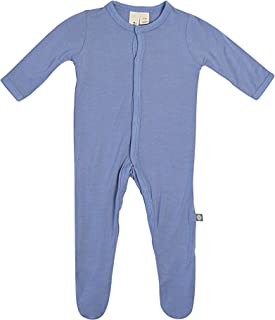KYTE BABY Soft Bamboo Rayon Footies, Snap Closure, 0-24 Months, Solid Colors