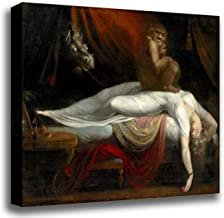 Canvas Print Wall Art - Magic Realism Fantasy - The Nightmare - by Henry Fuseli - Gallery Wrapped - 14x12 inch
