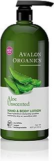Avalon Organics Hand and Body Lotion, Aloe Unscented - 32 oz