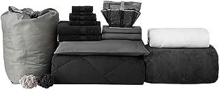 College Freshman Dorm Pack - Twin XL - Black Color Set