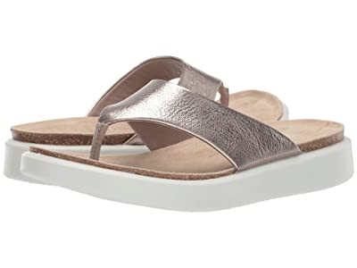 ECCO Corksphere Thong (Warm Grey Metallic) Women