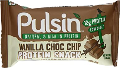 PULSIN Snacks Vanilla Choc Chip Protein Snack 50g Pack of 108 Estimated Price : £ 269,16