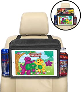 lebogner Insulated Car Seat Back Organizer + iPad and Tablet Holder, Auto Driver Or Passenger Accessories Organizer, Vehicle Front Seat Caddy, Personal Travel Cooler Storage Bag for Adults & Kids