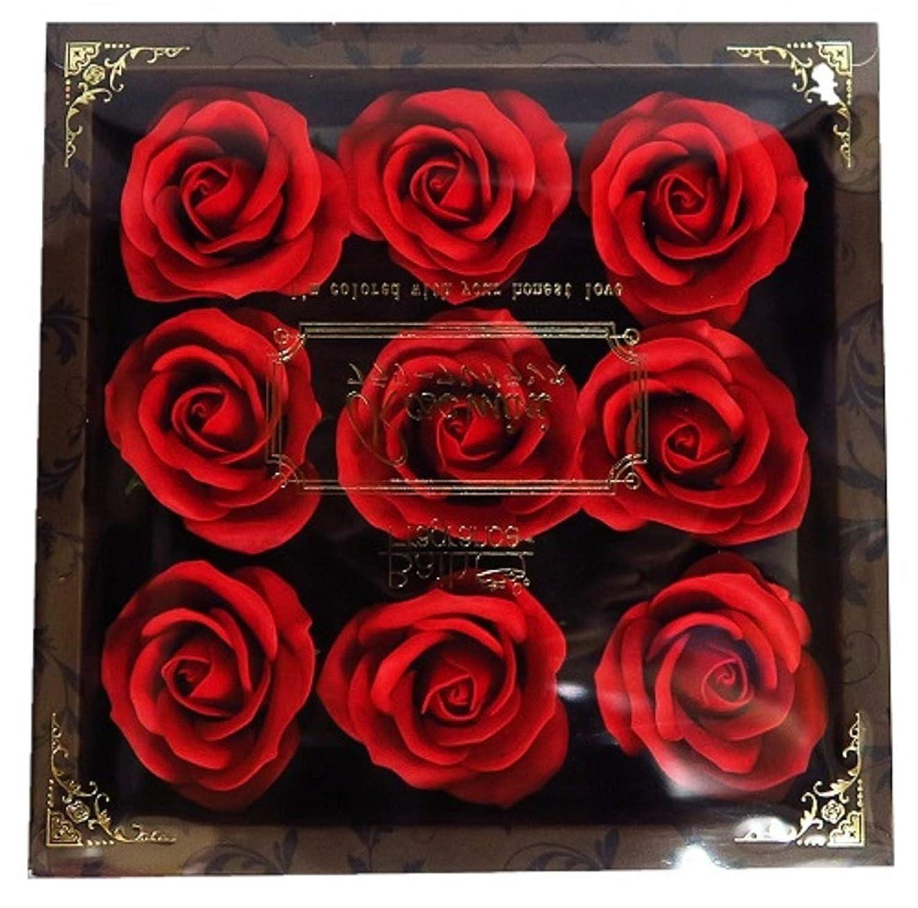 無効満了餌バスフレグランス フラワーフレグランス ミニローズフレグランス(L)レッド ギフト お花の形の入浴剤 プレゼント ばら