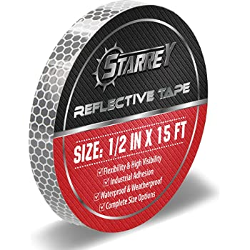 Starrey High Intensity Reflective Tape 2 inch X 15 FT DOT-C2 Approved Red White Waterproof Conspicuity Trailer Safety Reflector for Vehicles Trucks
