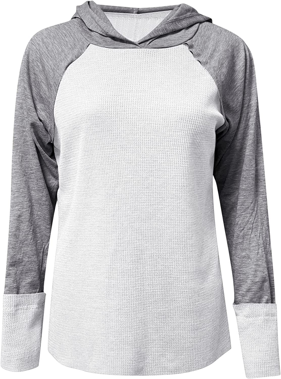 Jchen Pullover Hooded Sweatshirt for Albuquerque Mall Women Sh Sleeve Long Beach Mall Casual