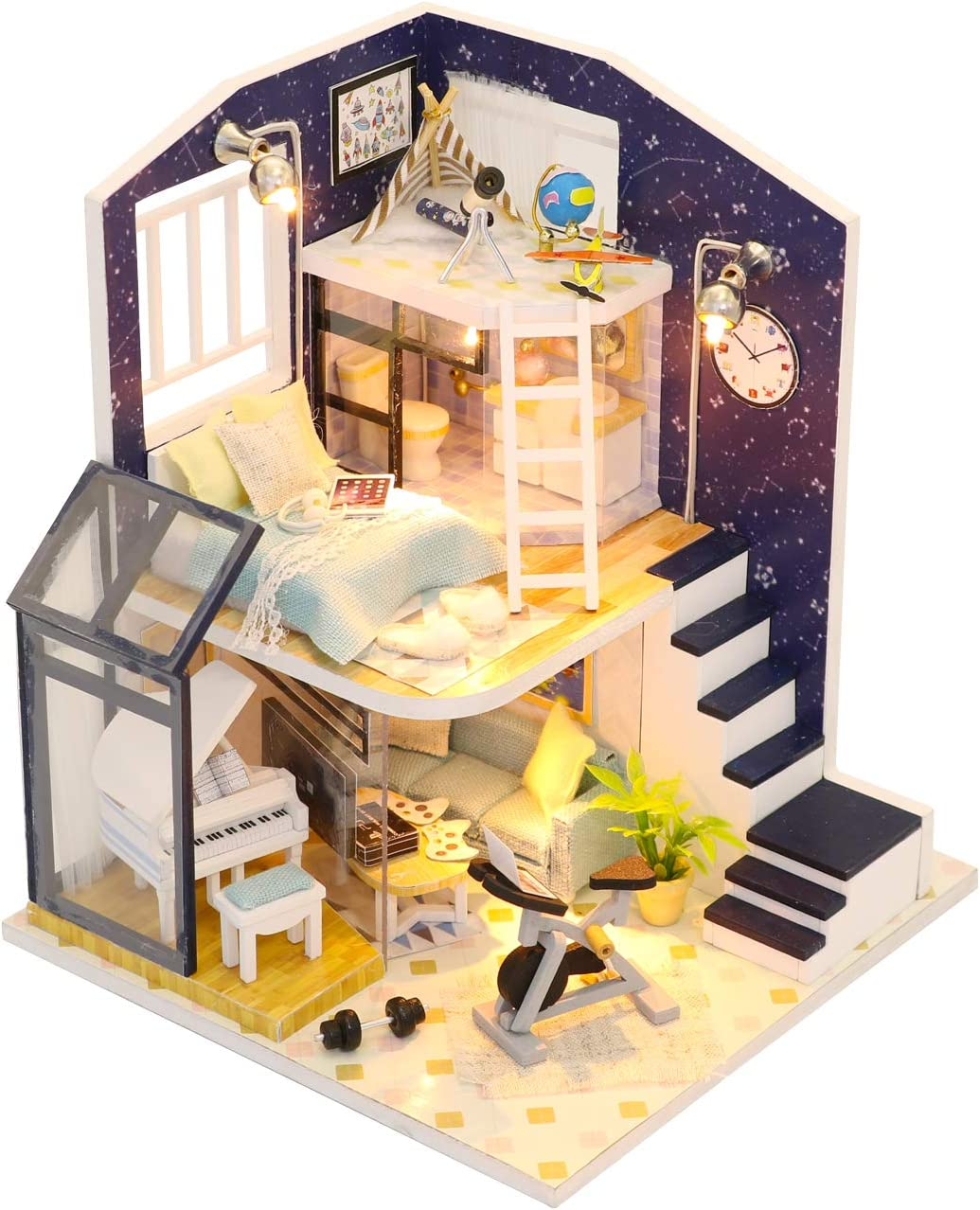 Flever Dollhouse Miniature DIY House Kit Creative Furn Inventory cleanup selling sale with Room 100% quality warranty!