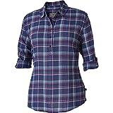Royal Robbins Women's Oasis Plaid Popover Shirt, Medium, Blue Sea