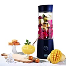 Portable Blender, Kacsoo M620 Mini Blender Personal Smoothie Fruit Mixer Juicer Cup, Single Serve USB Rechargeable Travel Blender for Shakes and Smoothies, with 5200 mAh Rechargeable Battery (Blue)
