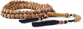 Oud Wood Tasbih Prayer Beads Islam - 99 8mm Natural Agarwood Muslim Prayer Beads - Tasbeeh Counter - Zikr Beads - Rosary B...