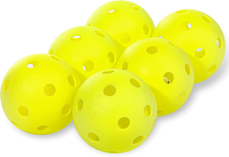 Franklin Sports Plastic Softballs - MLB - Includes 6 Balls for B