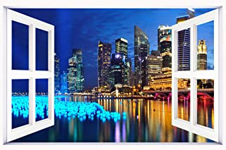 marina_bay_singapore_panorama wallpaper wall stickers wall murals quote printing art vinyl decal sticker