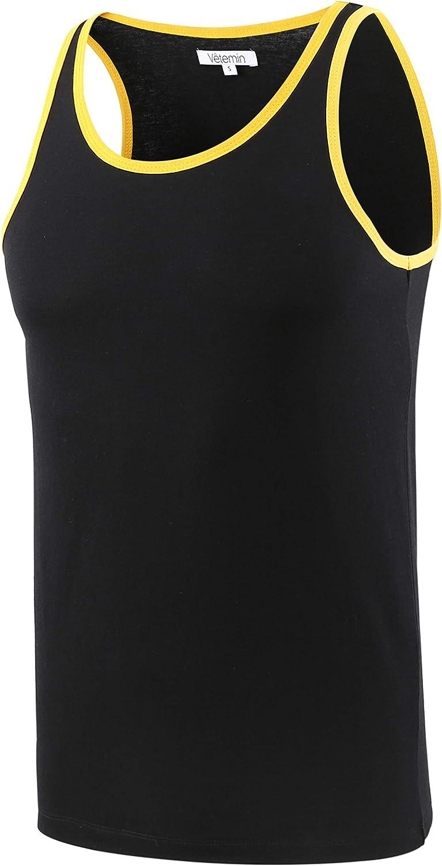 Vetemin Mens Premium Basic Solid Vintage Athletic Jersey Tank Top Casual Shirts